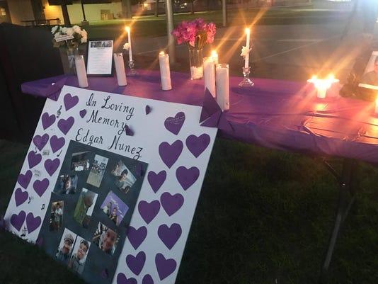 Memorial for slain 13-year-old