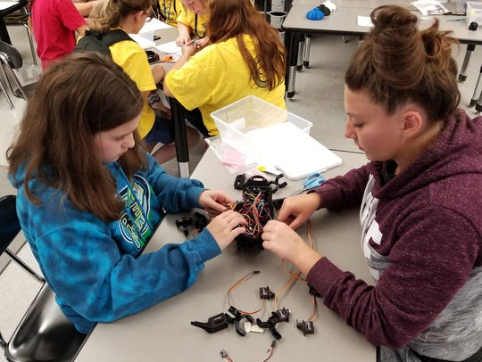Students constructed and controlled a Vorpal Robot