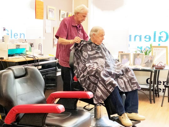 Paul Tarber has been a customer at Glenn's Barber Shop for over 50 years.