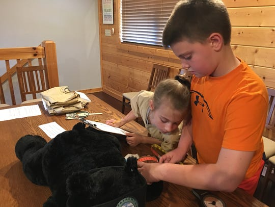 Children learn about black bears at the Appalachian