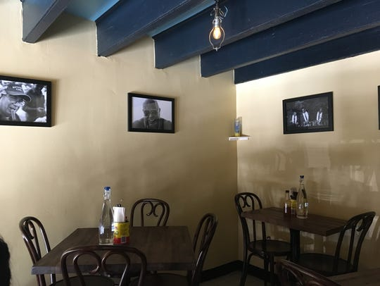 The upstairs seating area at Manolito, a Cuban restaurant