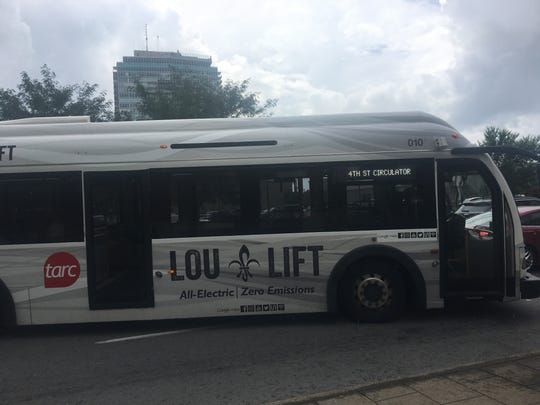 The recently rebranded LouLift buses transport riders
