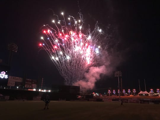 Fireworks after Reno 1868 FC's beat Real Monarchs 3-0  on Tuesday,  at Greater Nevada Field in downtown Reno.