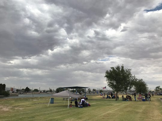El Pasoans enjoyed overcast weather on Independence Day at Ascarate Park, before fireworks later that evening.
