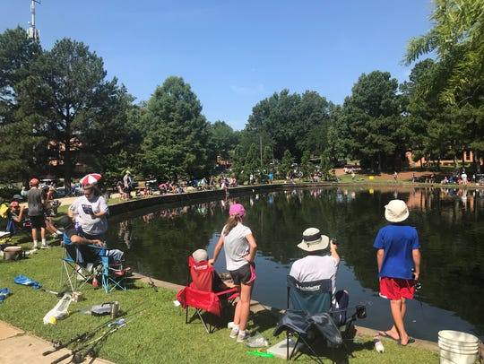 More than 100 people took part in Lions Club Fishing