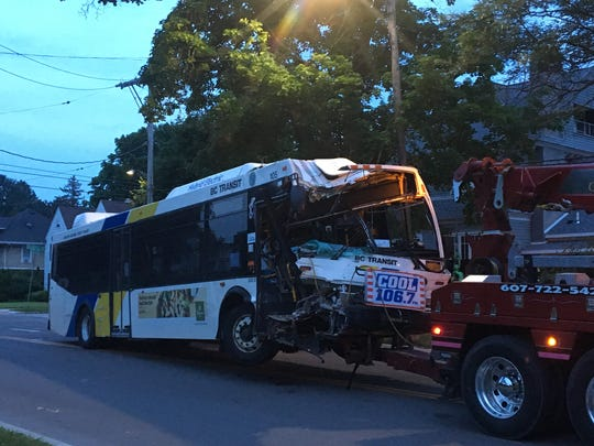 Only minor injuries were reported after a B.C. Transit