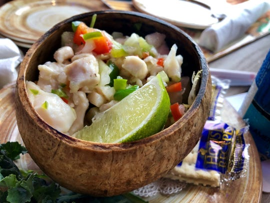 Conch ceviche from Bimini Bait Shack in Punta Rassa.