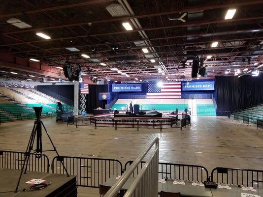 Great Falls Trump Rally preparation