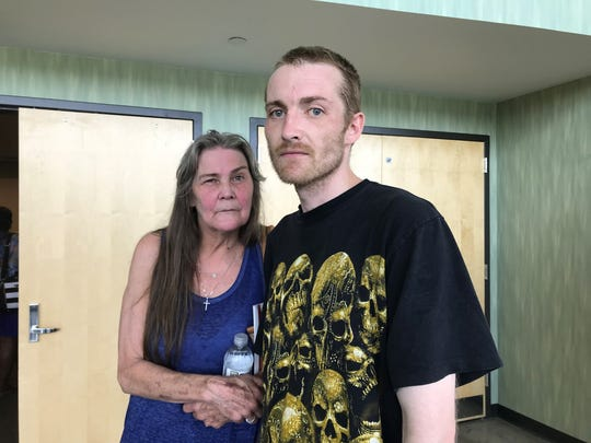 Sandy Gist and her son, Dave Ogg, lost their last apartment in a fire. Two months later, they've been evacuated from their new one.