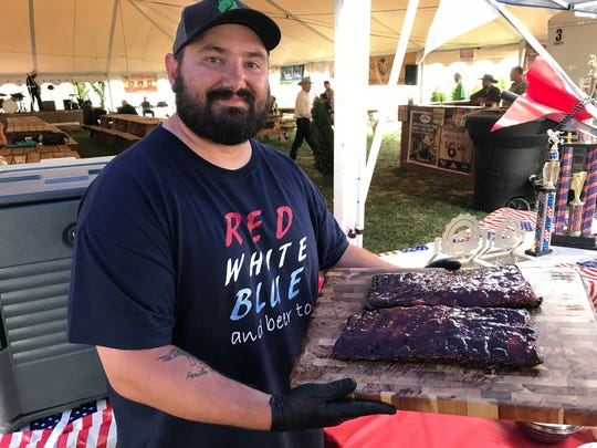 Tim Bert competing in the 2018 Great Western BBQ Cook-Off