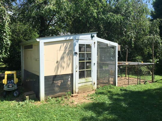 Ariana and Jim Coate's chicken coop in their backyard.