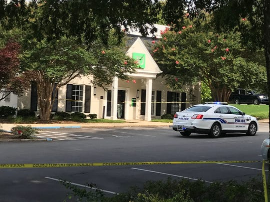 Greenville police arrested a suspect in a robbery of the Haywood Branch of the TD Bank in Greenville on Friday, July 6, 2018.