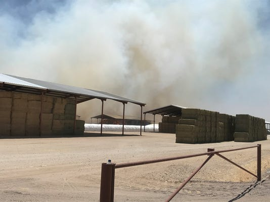 Hay fire in Buckeye