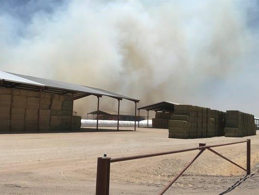 Hay fire in Buckeye
