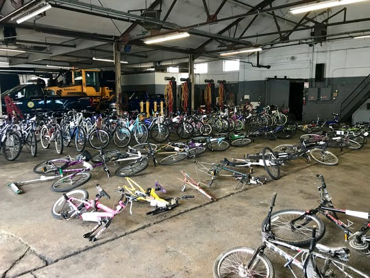 Bikes available for purchase at the Collingswood Police