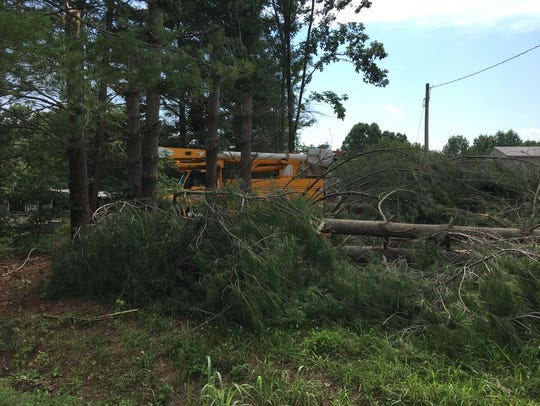 Cheatham County Emergency Management assessed damage,