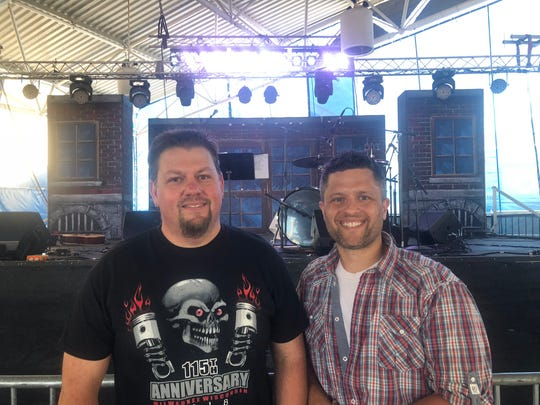 Chris Schmidt (left) and Tom Venturella are part of Chris Schmidt Acoustic, a Milwaukee band that performed at Summerfest 2018.