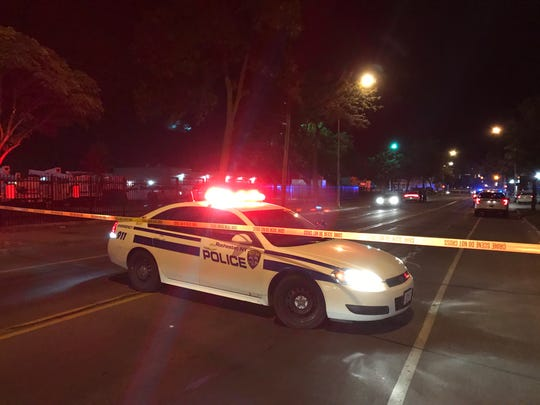 Police closed off a section of Hudson Avenue after a shooting on July 7, 2018.