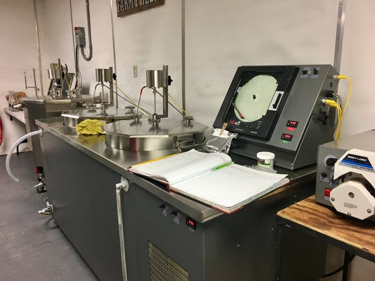Carlyn Shirley uses this machine to pasteurize and