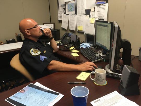 Metro Nashville Police Sgt. William Denton views emails