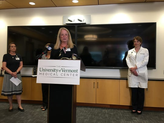 UVM Medical Center President Eileen Whalen addresses