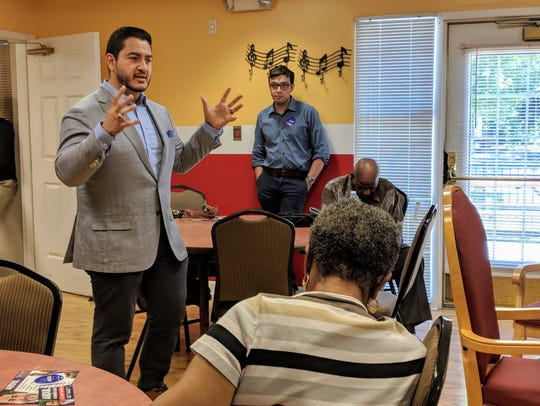 Democrat governor candidate Abdul El-Sayed campaigns
