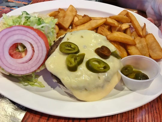 St. Lucie Draft House's half-pound Swiss cheeseburger