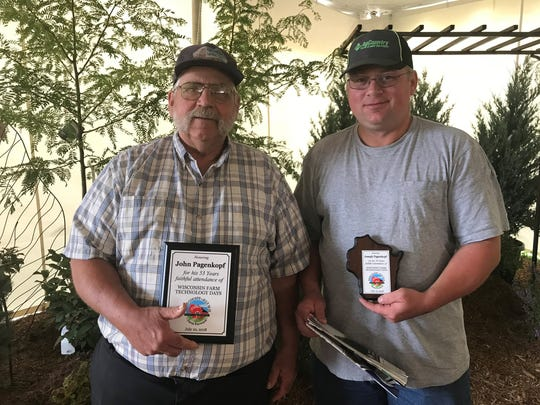 John Pagenkopf and his son, Joe, were also faithful attendees of Farm Technology Days.