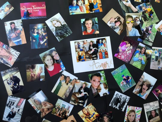Photos of Courtney Gaboriault are displayed at the