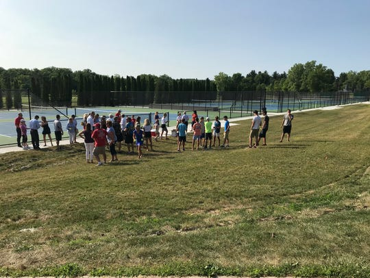 Eight new courts were unveiled Wednesday at St. Clair