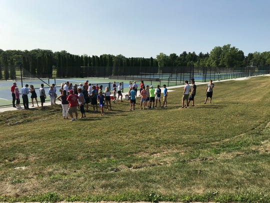 Eight new courts were unveiled Wednesday at St. Clair High School.