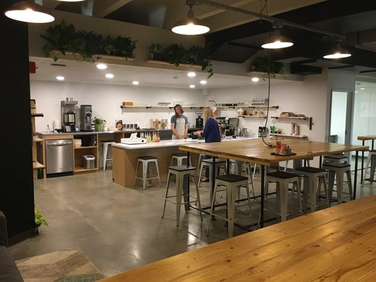 Cura Cofffehouse has opened adjacent to Rise & Grind, a coworking space on the third floor of the Brown County Library. The coffeehouse is open to the public.