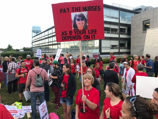 University of Vermont Medical Center nurses gathered