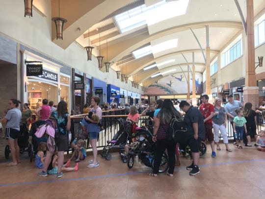 People at Jordan Creek Town Center waited at least four hours for a special deal at Build-A-Bear Workshop.