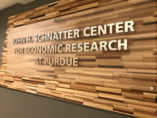 A sign bearing the name of John Schnatter, founder