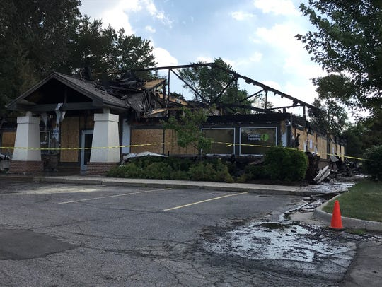 This building in Delta Township at Saginaw Highway and Creyts Road was destroyed July 1 in a fire. It housed two medical offices.