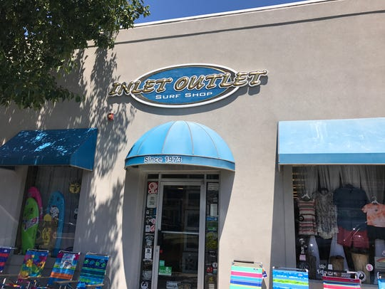 Streetview of Inlet Outlet Surf Shop on Main Street