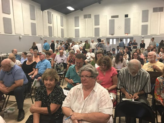 The U.S. Army Corps of Engineers public meeting in Poughkeepsie on Wednesday night drew a large crowd.