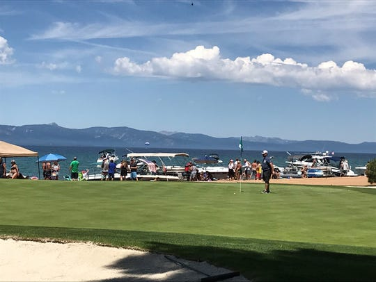 The green on No. 17 at Edgewood Tahoe on Thursday.