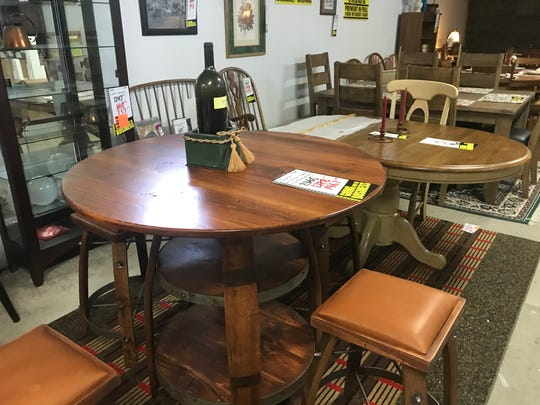 Going out of business sale at Becker's Furniture in