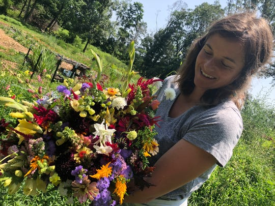Laura Beth Dawson's Tiny Fields Farms in Churchville offers community supported agriculture shares, where customers can get a bouquet a week.