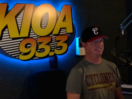 Luke Mattews, morning show host on KIOA in Des Moines.
