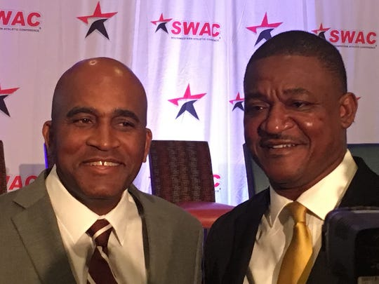 Two of the newest SWAC head coaches, Alabama A&M's