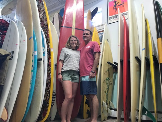 Eric Beyer and his daughter, Emily, at Beach House
