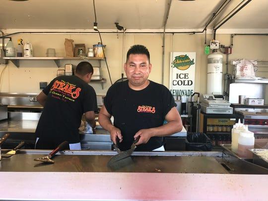 The Original Steaks employee Martine Gonzales working