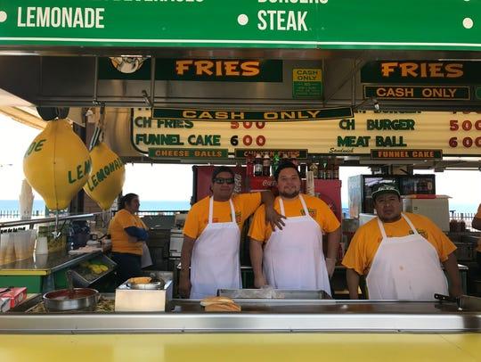 Midway Steaks on the Seaside Heights Boardwalk employees,(from