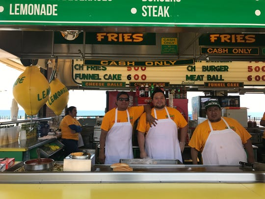 Midway Steaks on the Seaside Heights Boardwalk employees,(from