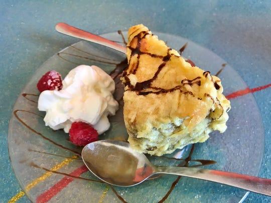Krazy Fish's tempura cheesecake.