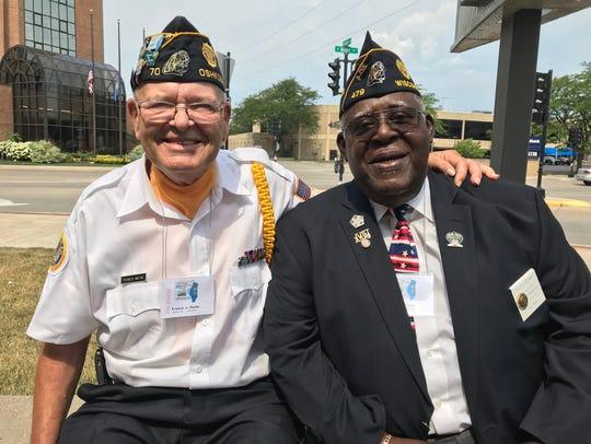 Oshkosh Post Commander Francis Mathe and former Department