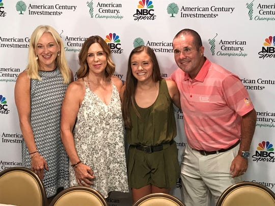 Left to right: Corinna Osborne, General Manager, Edgewood Companies; Terri Upshaw; Anna White, Gary Quinn, VP of Programming and Owned Properties for NBC Sports